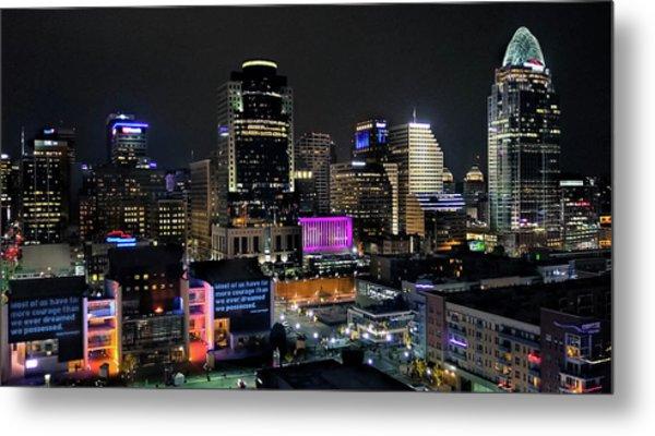 Blink Cincinnati - Skyline  Metal Print