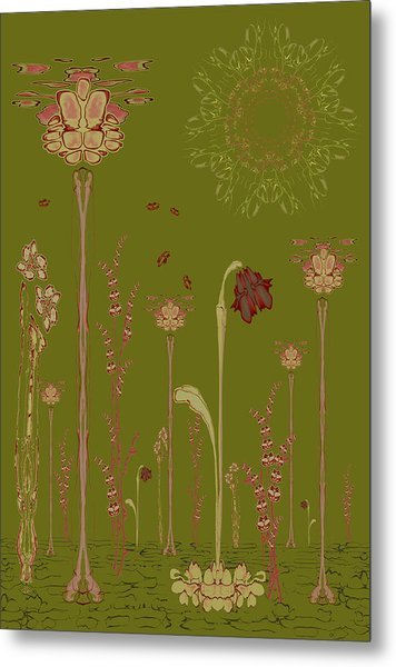 Blob Flower Garden Full View Metal Print