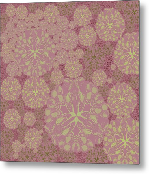 Blob Flower Painting #3 Pink Metal Print