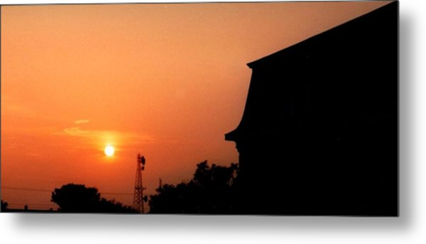 Block Island Sunset Metal Print