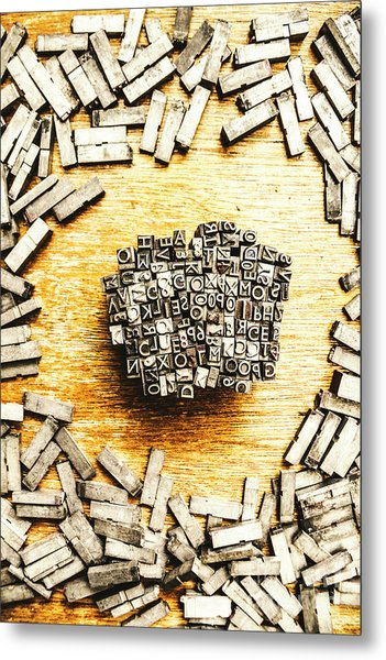 Block Of Communication Metal Print