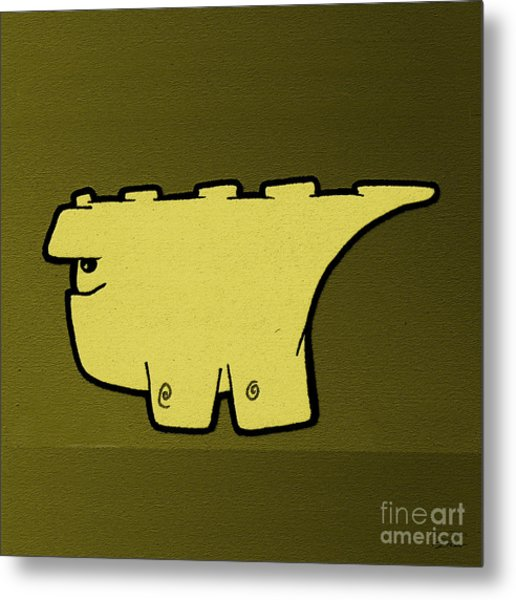 Blockasaurus Metal Print