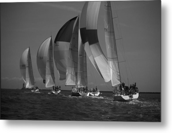 Blocking Your Wind Metal Print