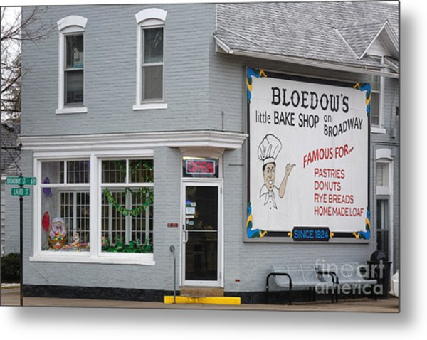 Metal Print featuring the photograph Bloedow's Bakery Winona Mn by Kari Yearous