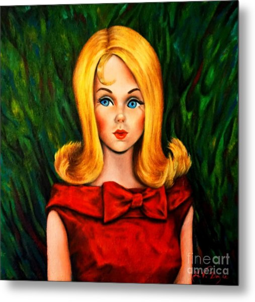 Blonde Marlo Flip Tnt Barbie Metal Print