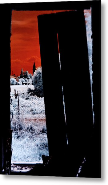 Blood And Moon Metal Print