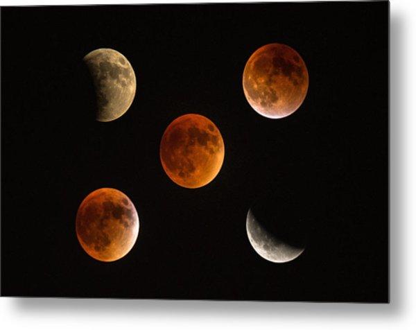 Blood Moon Eclipse Compilation Metal Print