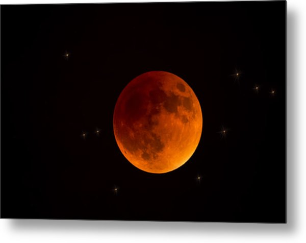 Blood Moon Lunar Eclipse 2015 Metal Print