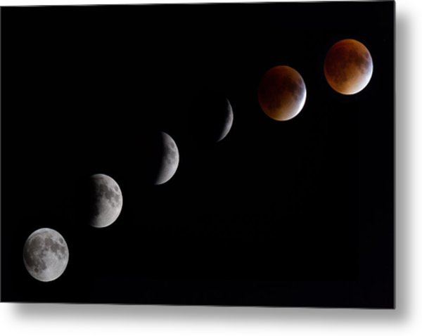 Blood Moon Lunar Eclipse Metal Print