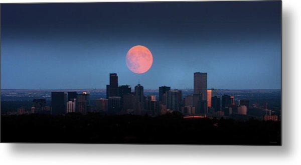 Blood Moon Over Denver Metal Print