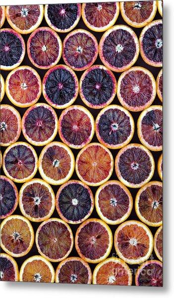 Blood Oranges Pattern Metal Print