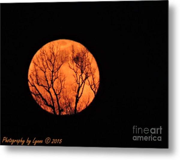 Blood Red Moon Metal Print