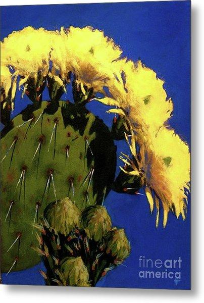 Blooming Prickly Pear Metal Print