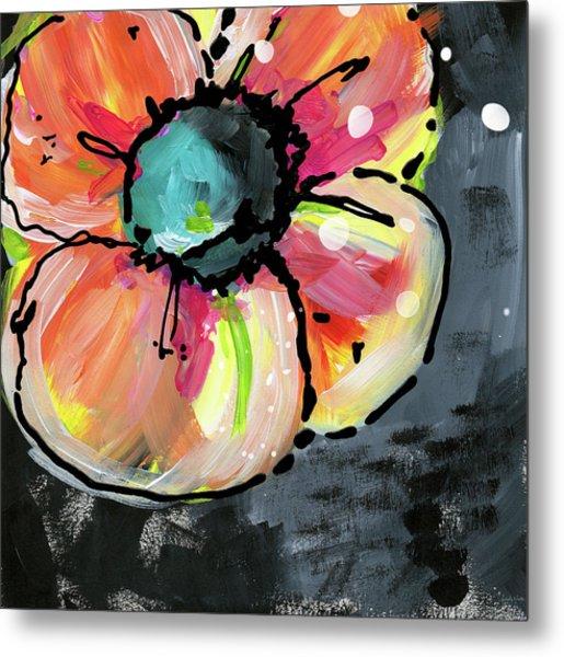 Blooming Wildflower- Art By Linda Woods Metal Print