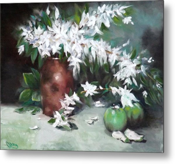 Blossom And Apples Metal Print