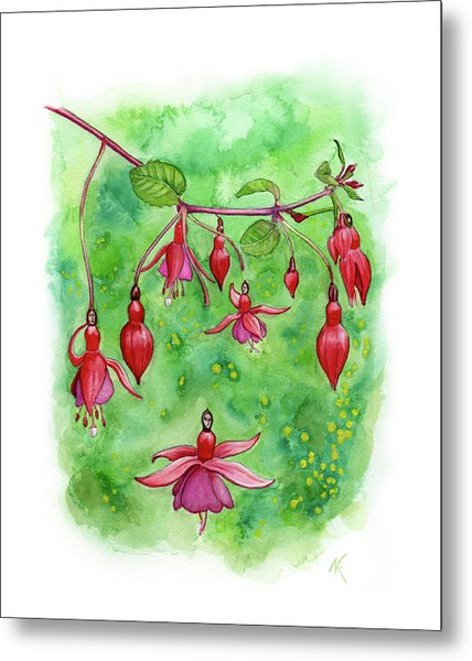 Blossom Fairies Metal Print