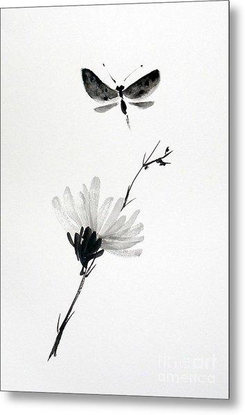 Blossomfly Metal Print