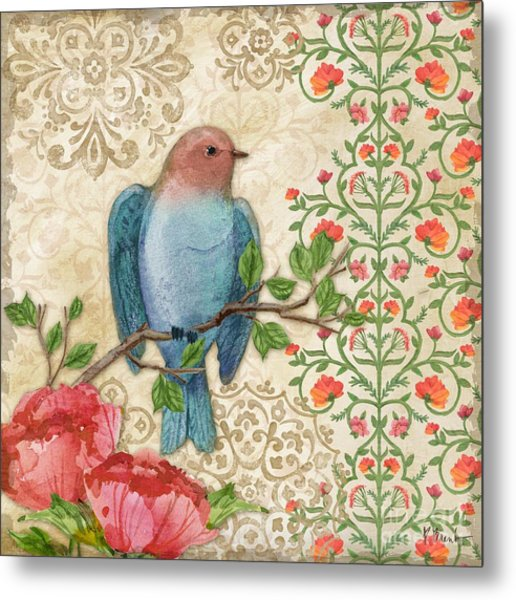 Blossoming Birds IIi Metal Print by Paul Brent