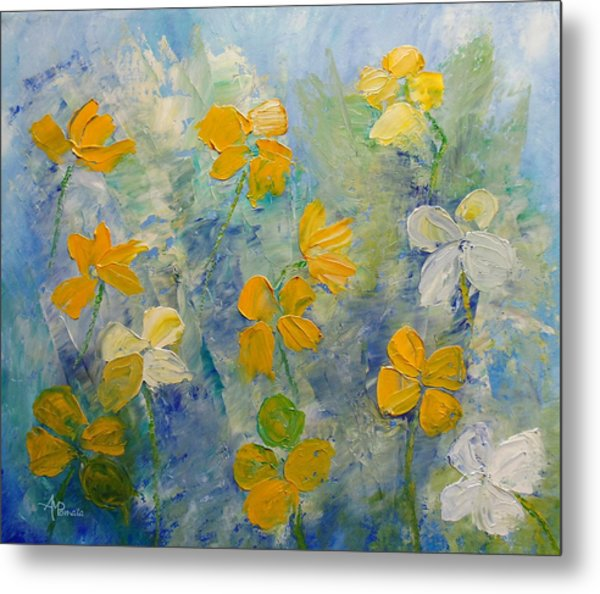 Blossoms In Breeze Metal Print