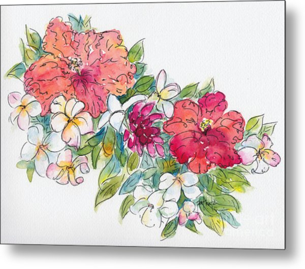 Blossoms Of French Polynesia Metal Print