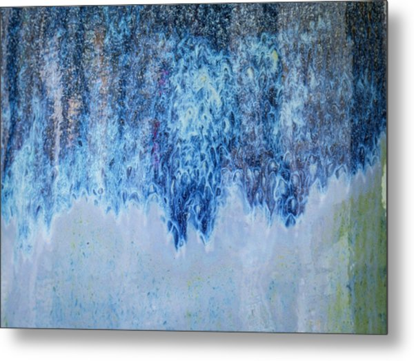 Metal Print featuring the photograph Blue Abstract One by David Waldrop