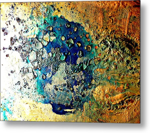 Blue Abstract Metal Print