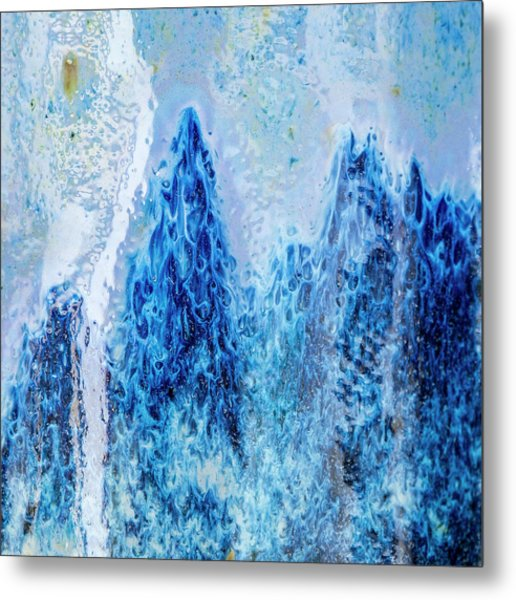 Metal Print featuring the photograph Blue Abstract Two by David Waldrop