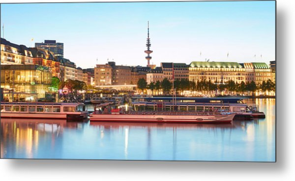 Metal Print featuring the photograph Blue Alster by Marc Huebner