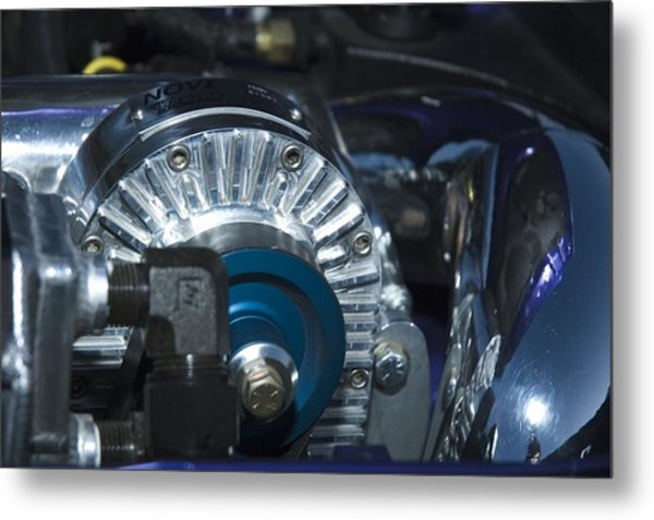 Blue And Chrome My Favorite Color Combo Metal Print