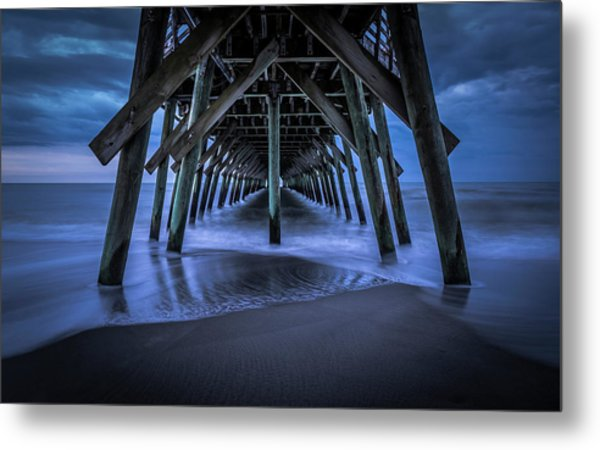 Blue And Gray Metal Print
