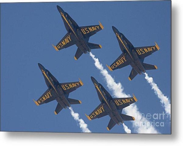 Blue Angels Blue Skies Metal Print