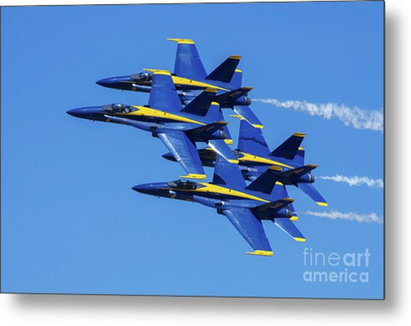 Blue Angels Very Close Formation 1 Metal Print