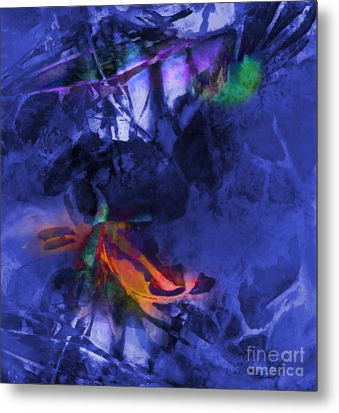 Blue Avatar Abstract Metal Print