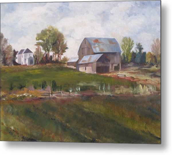 Blue Barn Metal Print