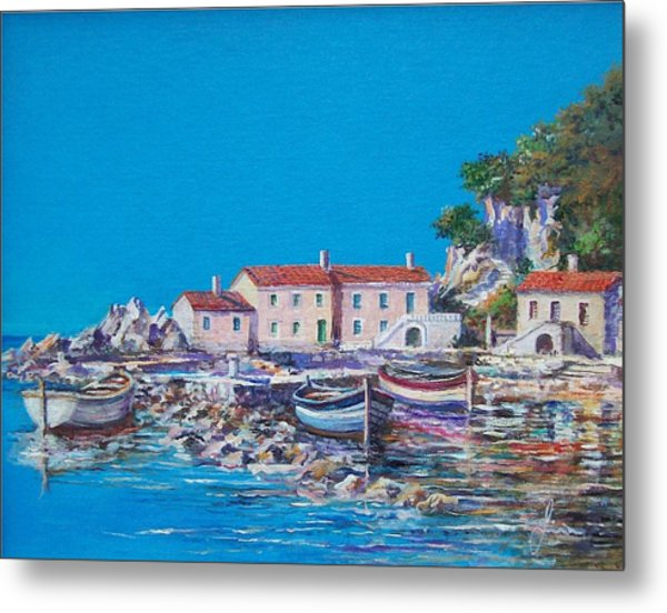 Blue Bay Metal Print