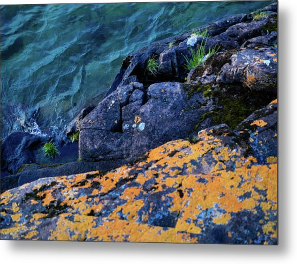Metal Print featuring the photograph Blue Beach by Whitney Leigh Carlson