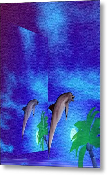 Blue Beauty Within Metal Print by Thelma Hendrix