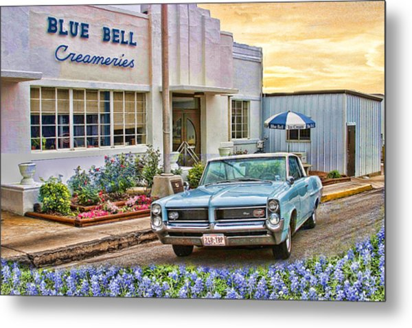Blue Bell, Bluebonnets, And My Grand Prix Metal Print