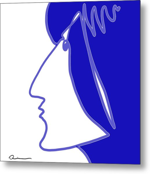 Blue Belle Metal Print