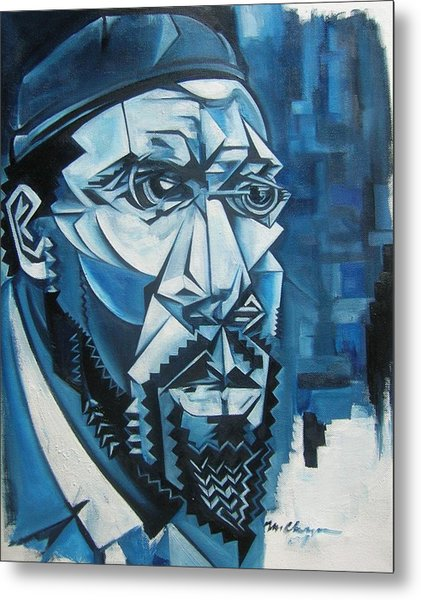 Blue Blue Monk Metal Print by Martel Chapman