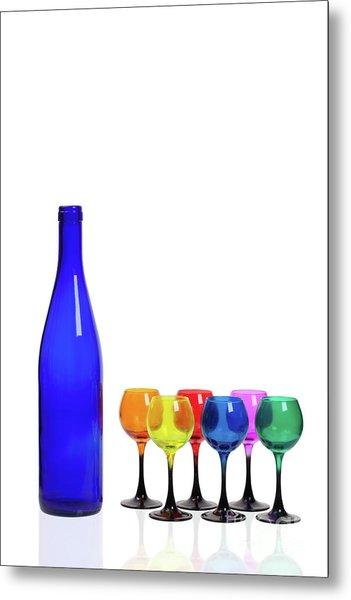 Blue Bottle #2429 Metal Print