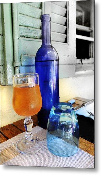 Blue Bottle Metal Print by Martine Affre Eisenlohr