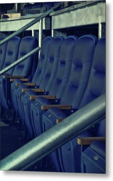 Blue Box Seats Metal Print by JAMART Photography