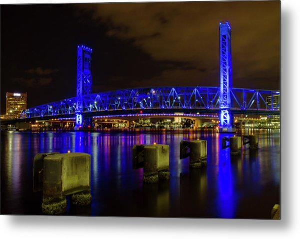 Blue Bridge 1 Metal Print