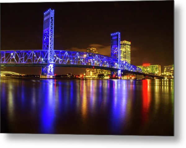 Blue Bridge 3 Metal Print