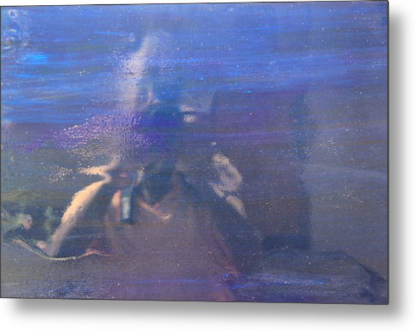 Blue Camera Play Metal Print