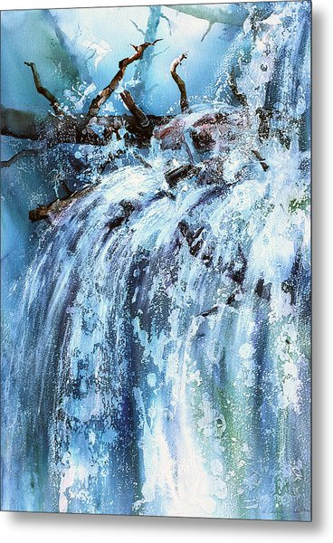 Blue Cascades Metal Print