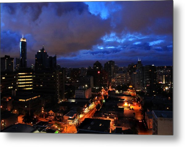 Blue City Metal Print by Angie Wingerd