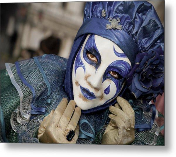 Blue Clown Metal Print