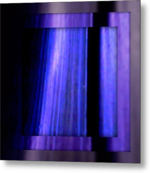 Blue Column Art Metal Print by Joan Kamaru